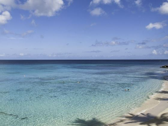 The beautiful ocean at Waves Hotel & Spa Barbados