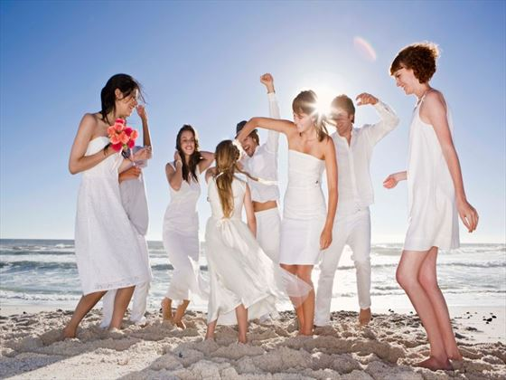 Wedding celebration on the beach