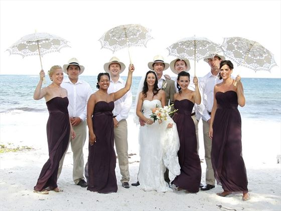 Wedding party on the beach