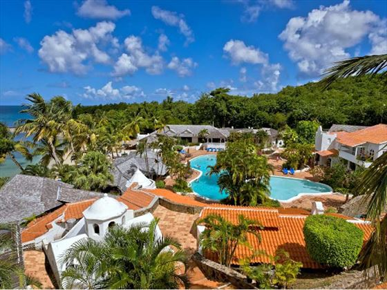 Overview of Windjammer Landing Villa Beach Resort