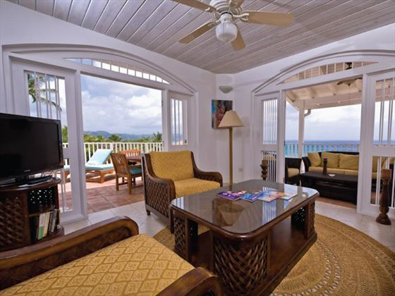 Windjammer Landing Villa living room area