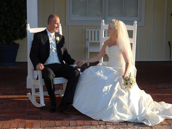 Bride and Groom at the Celebration Golf Club