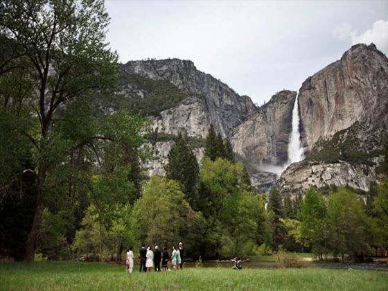 Yosemite Falls wedding