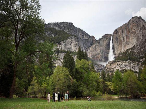 Yosemite Falls wedding