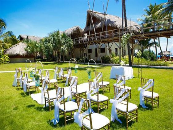 Beautiful garden wedding set up