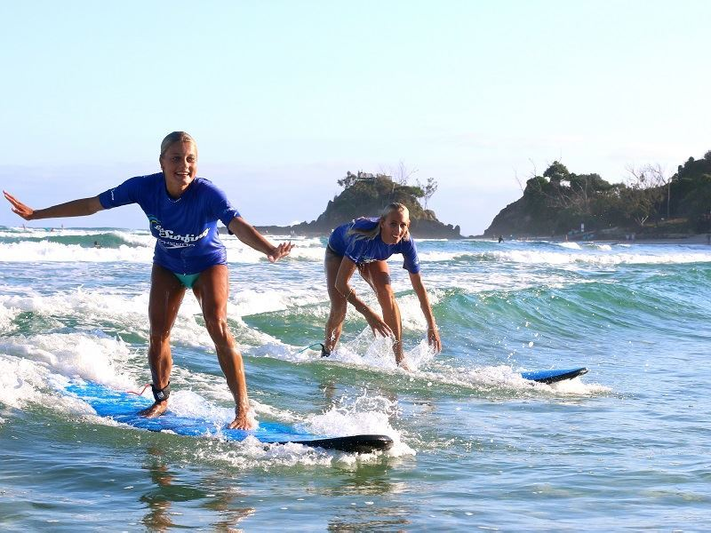 LGS learn to surf Byron Bay