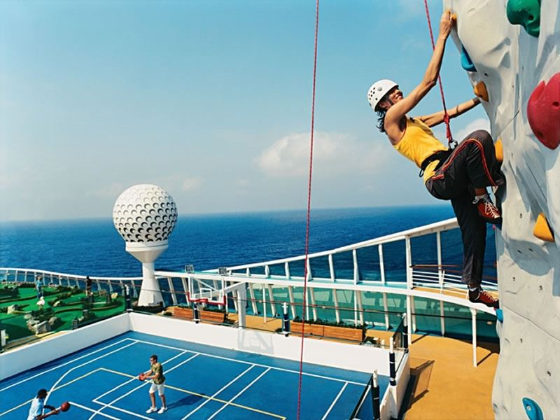 Royal Caribbean - Freedom of the Seas, Rock Climbers