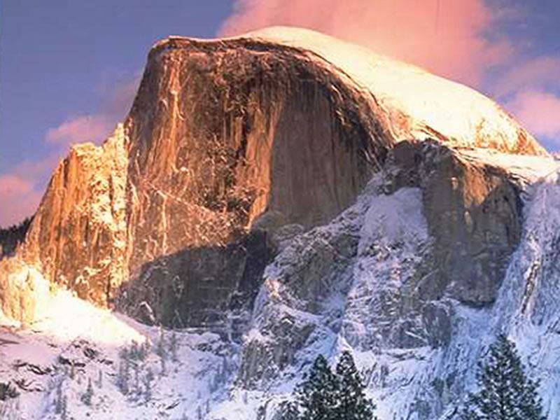 Half Dome in winter, Yosemite National Park