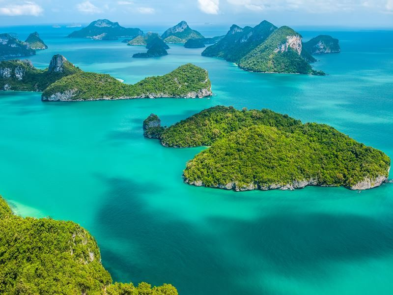 aerial view ang thong national marine park