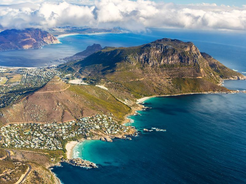 aerial view cape peninsula