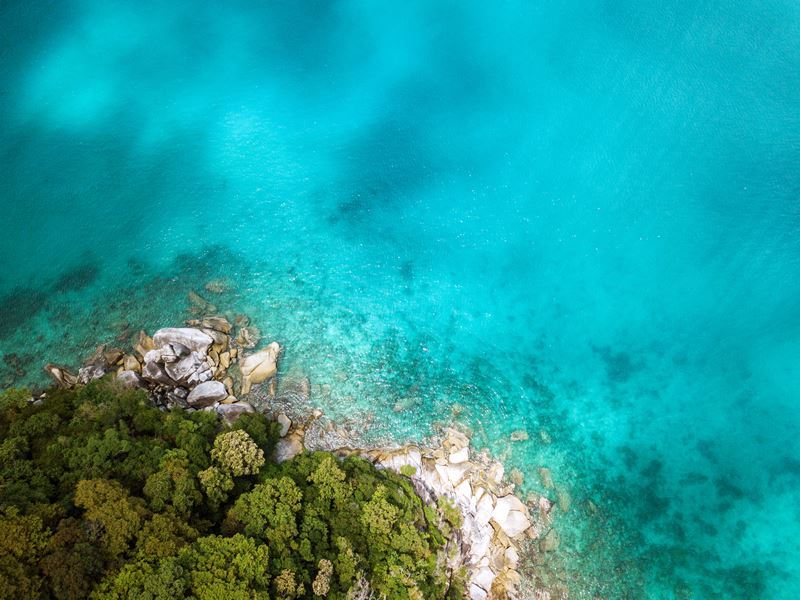 aerial view perhentian islands malaysia