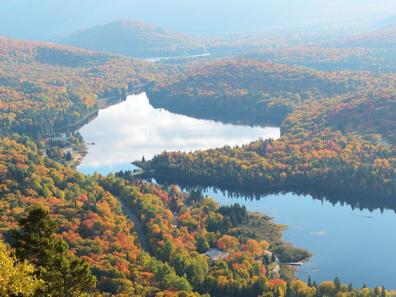 autumn mist over mont tremblant