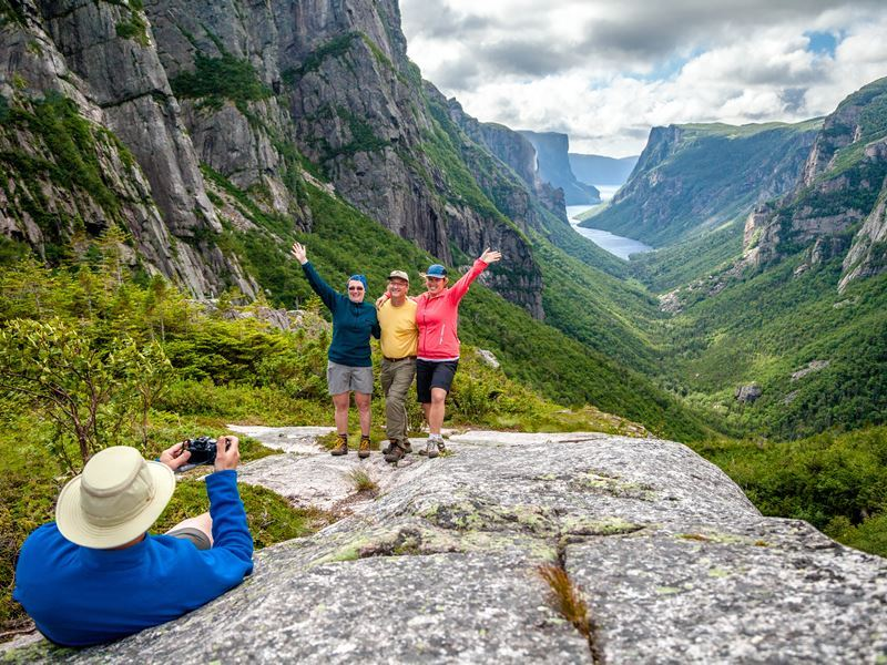 backcountry hiking western brook pond fjord