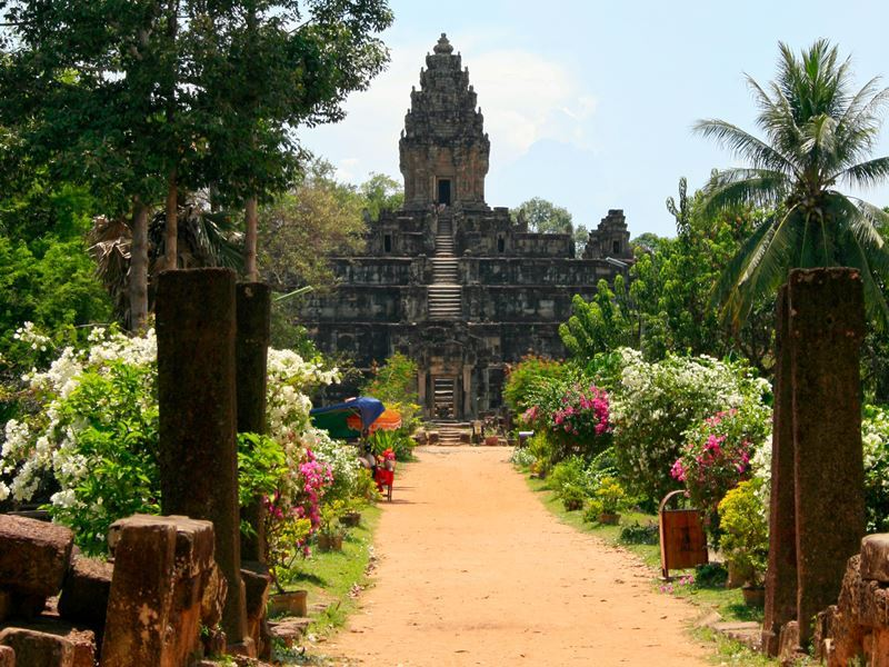 9th century temple, in Roluos, Cambodia