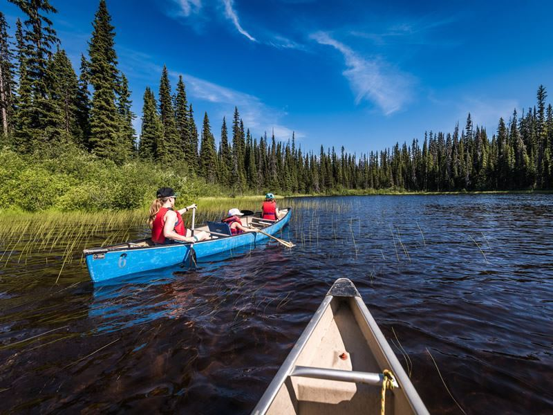 canoeing sun peaks