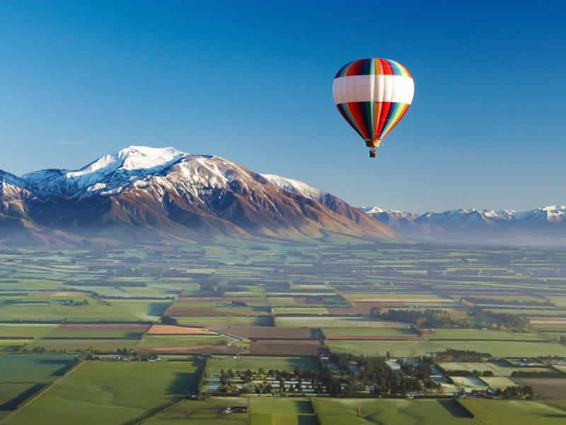 canterbury plains balloon canterbury s island new zealand