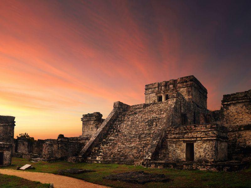 castillo fortress in riviera maya