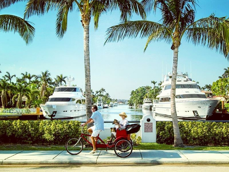 cycling by fort lauderdale waterways