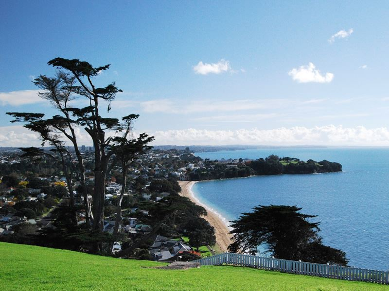 devonport beach from hill auckland