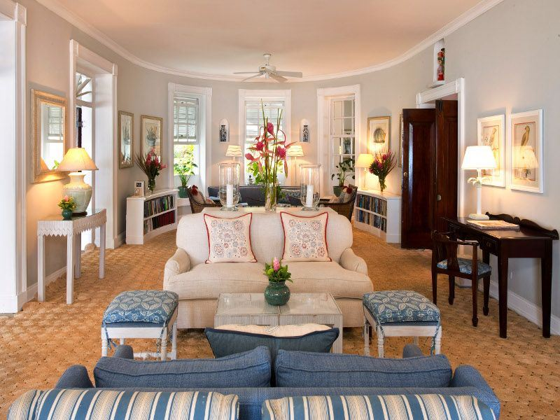 drawing room at cobblers cove
