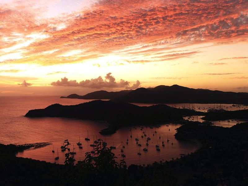 english harbour shirley heights antigua sunset