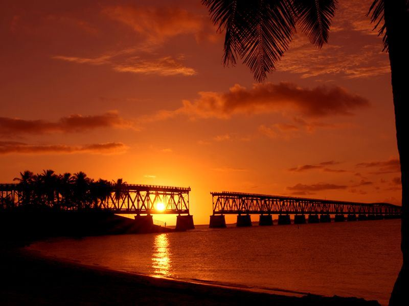 florida keys historic old bahia honda bridge