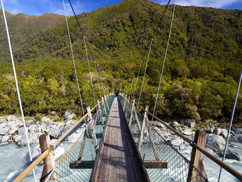 footbridge near franz josef glacier westland national park