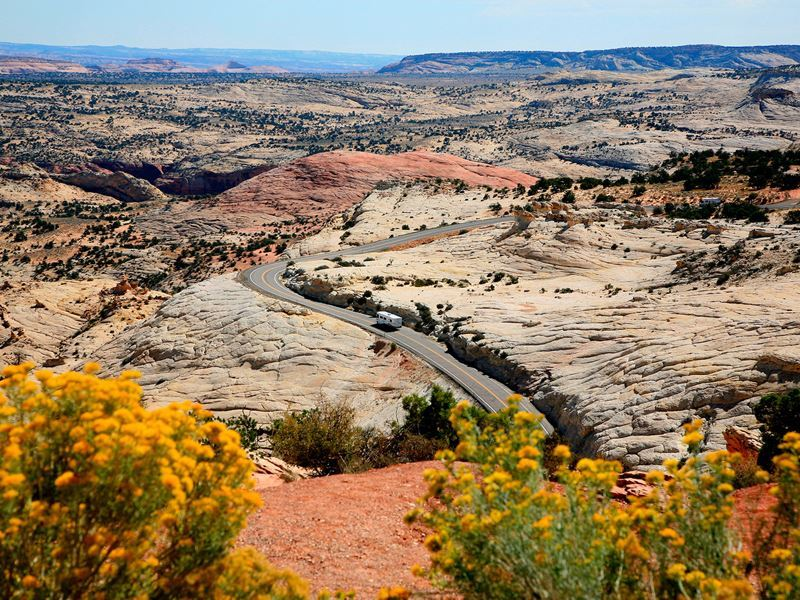 highway 12 scenic byway east of escalante utah