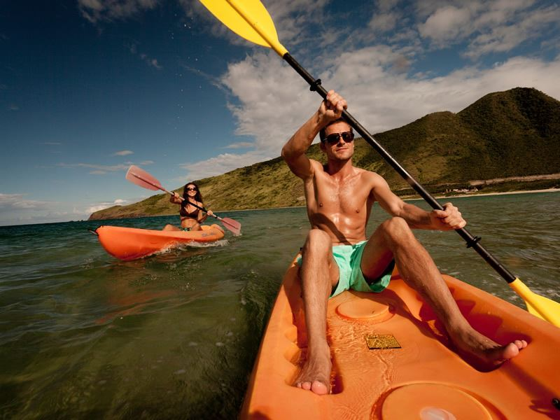 Kayaking off Cockleshell Bay, St Kitts