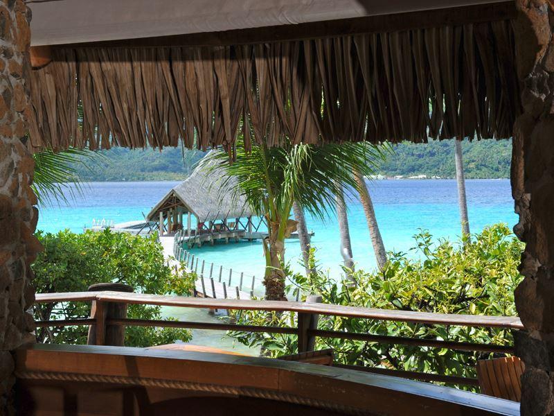la taha a island resort pier view