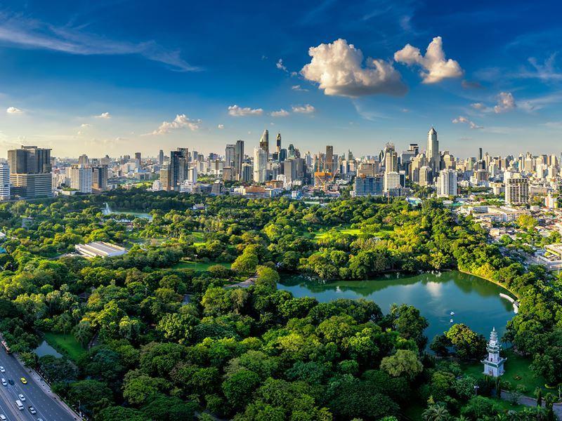 lumphini park bangkok view