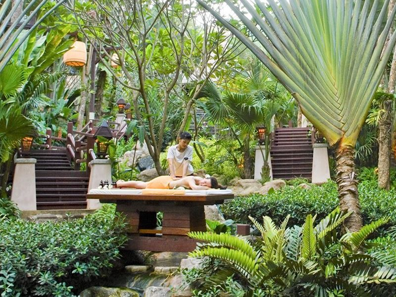 massage in the gardens at pimalai resort spa