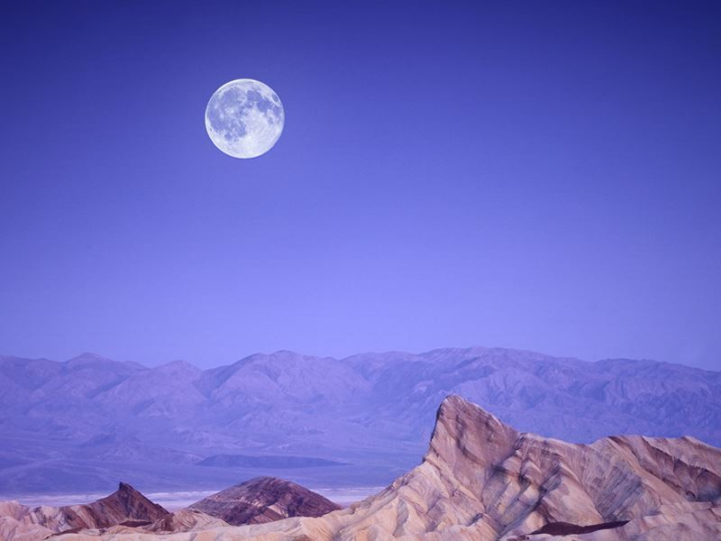 moon over zabriskie point