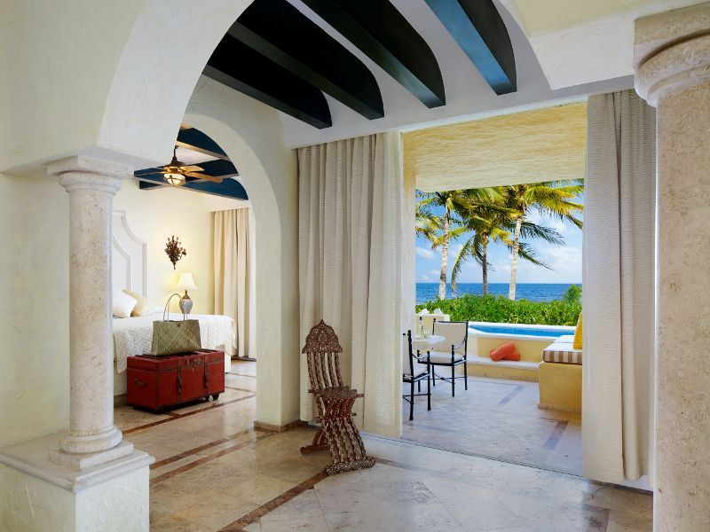 romance oceanfront suite with plunge pool at zoetry paraiso de la bonita