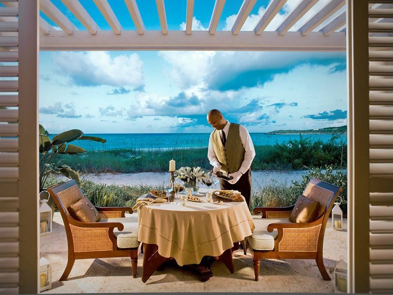 Romantic candlelit dinner at Sandals Emerald Bay
