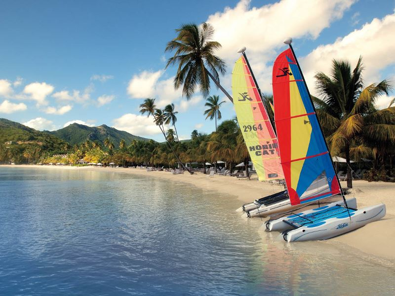 sailing at katson beach at carlisle bay