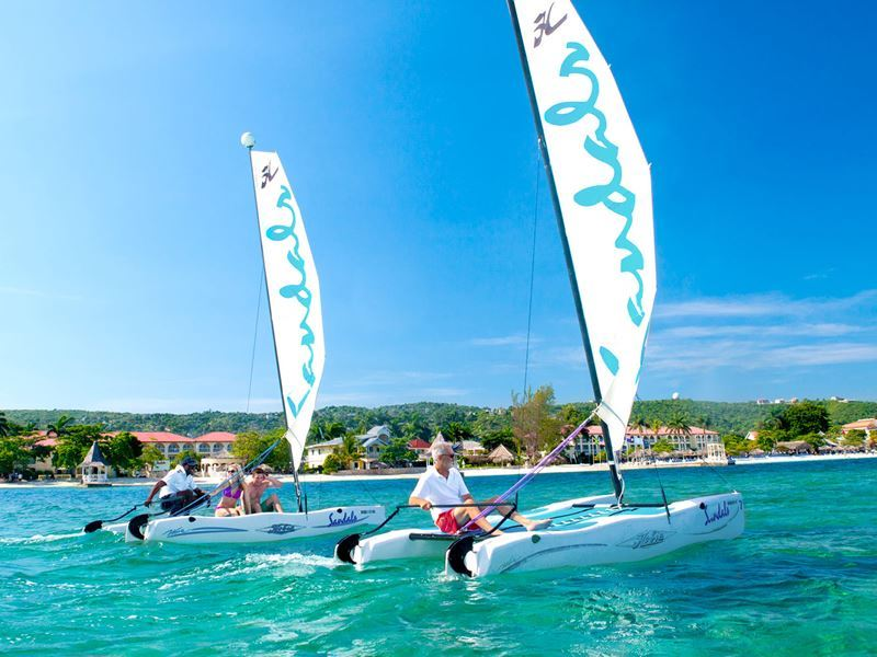 sailing at sandals montego bay