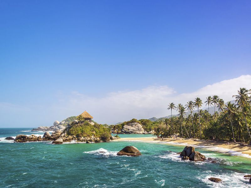 san juan del guia in tayrona national park colombia
