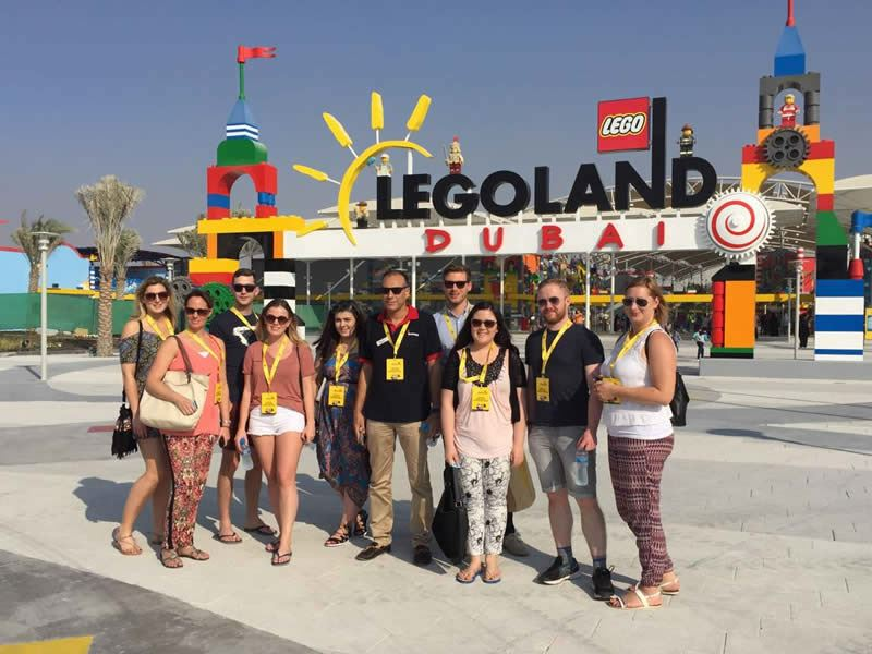tropical sky team at legoland dubai