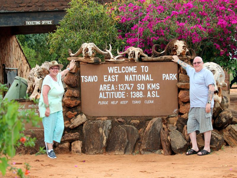 Walter & Betty at Tsavo east