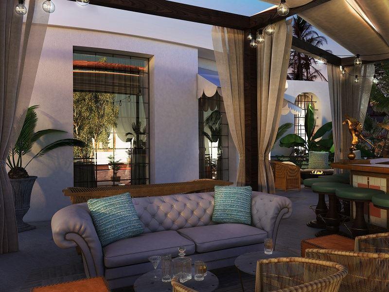 unico palmera lounge outside