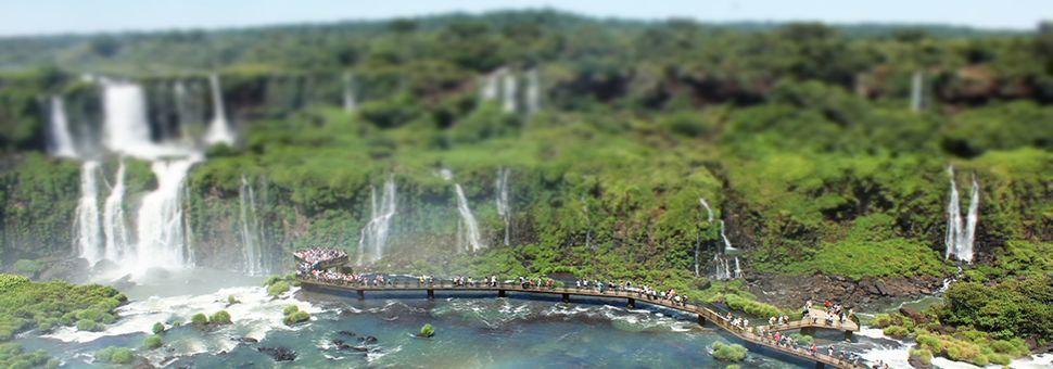 Iguazu Falls, on the Argentina-Brazil border