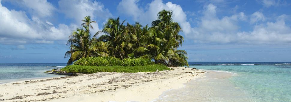 Tropical beach in Belize