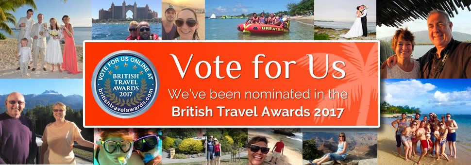 Vote for Tropical Sky in the British Travel Awards