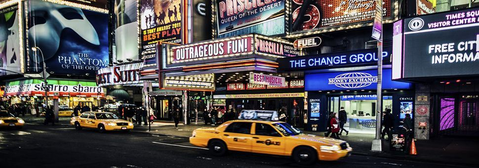 Theatres on Broadway, NYC