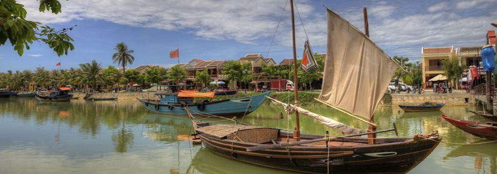 Vietnamese fishing boats in Hoi An