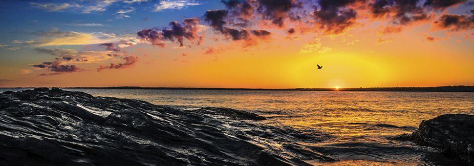 Sunset over Rhode Island